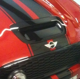 Bonnet scoop, Black for 2nd gen MINI